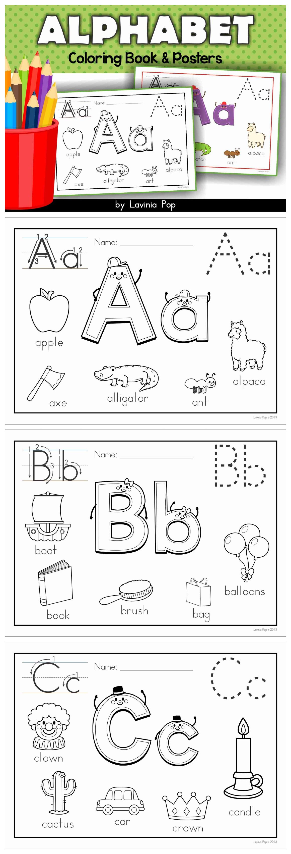 Alphabet Coloring Book and Posters | Vowel sounds, Long ...