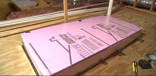 Completed Foam Insulated Attic Box Attic Renovation Attic Flooring Attic Stairs