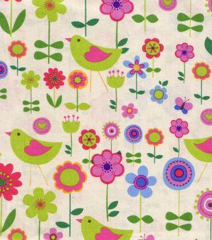Novelty Cotton Fabric-Sunday Market Chickadee