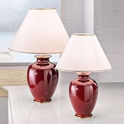 Tischleuchte Bordeaux Von Kolarz Mit Baumwoll Schirm In O 40cm Bordeaux 1x 100 Watt 57 00 Cm 40 0 In 2020 Lamp Table Lamp Lamp Design