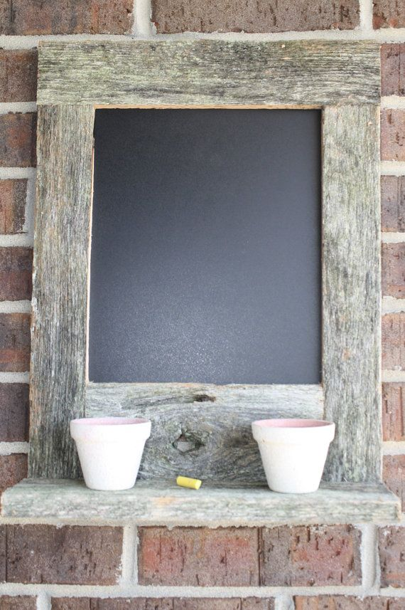 Reclaimed Wood Rustic Home Office: Reclaimed Recycled Rustic Oak Barn Wood Chalkboard With A