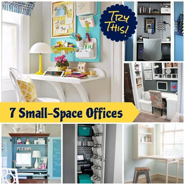 20 Home Office Design Ideas For Small Spaces: TRY THIS: Make A Small Space Office