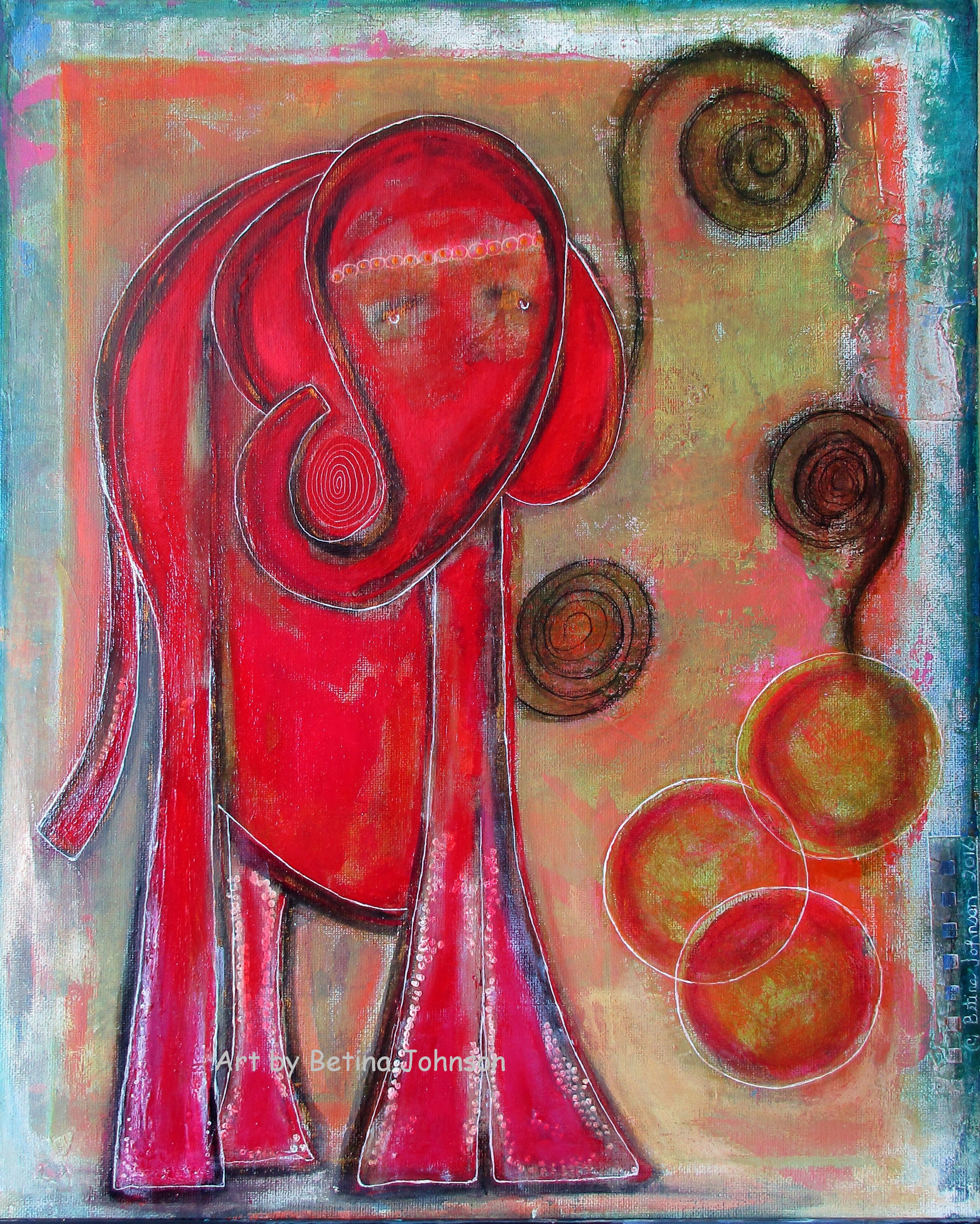 Original Mixed-Media painting. Intuitive piece titled The ...