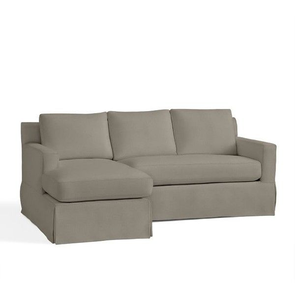 Sectional Sofas Pottery Barn York Square Slipcovered Right Chaise Sofa Sectional