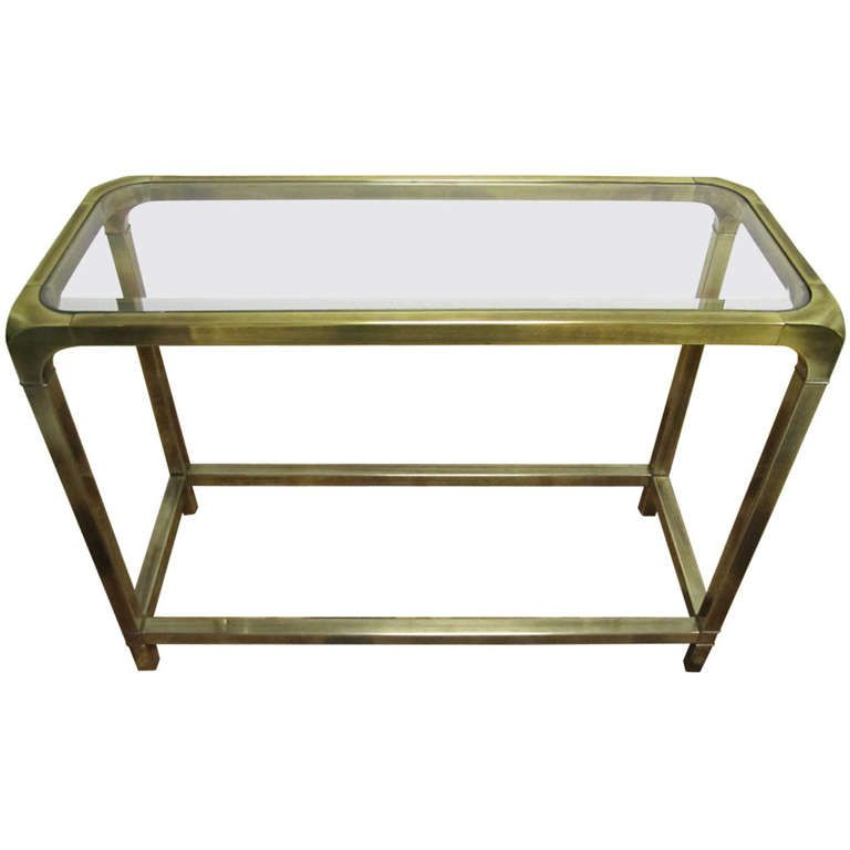 lovely mastercraft brass petite console table mid century regency modern console tables. Black Bedroom Furniture Sets. Home Design Ideas