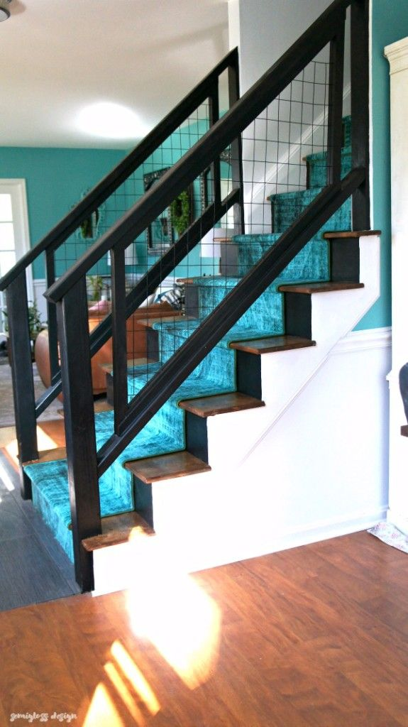 Best Colorful Modern Staircase Renovation Reveal Diy Stair 400 x 300