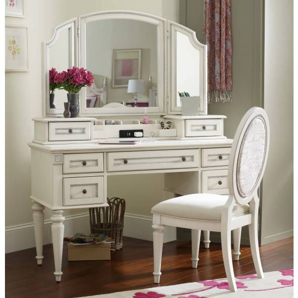 Hooker Furniture Bathroom Vanity: Claire Vanity Desk & Hutch Set With Chair From Hooker