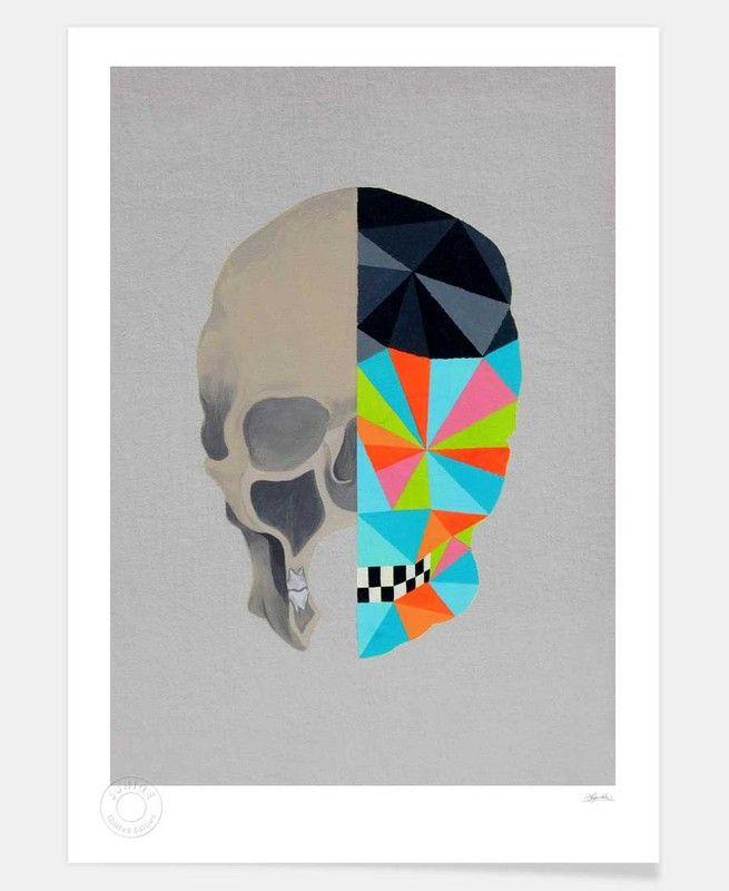 Graphic Skull en Édition limitée par Patrick Leyendecker   JUNIQE