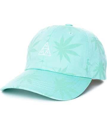 HUF 420 Triple Triangle Mint Strapback Hat  585dfd5ef7db