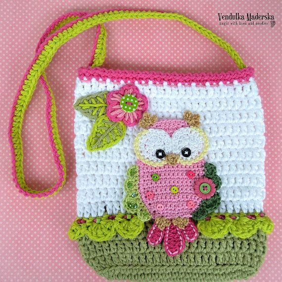 Crochet pattern - Owl purse by VendulkaM - crochet bag pattern ...