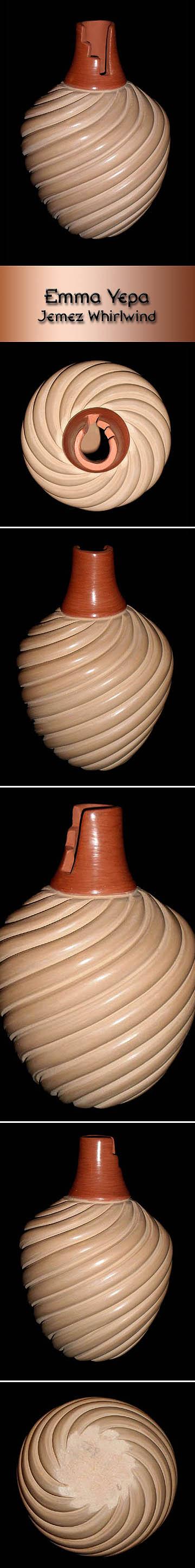 Pueblo Pottery by Emma Yepa - Jemez Whirlwind