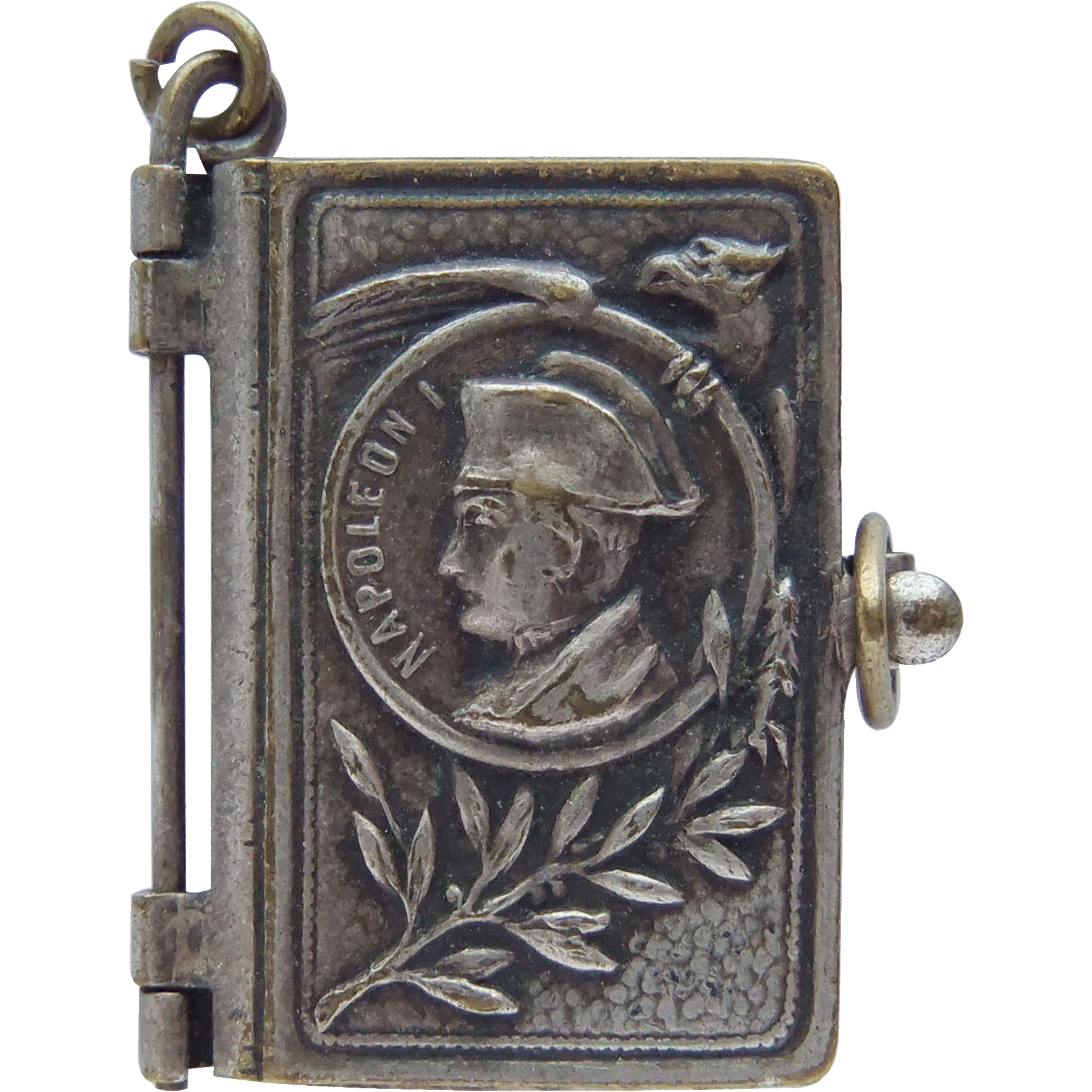 Antique Napol 233 On Bonaparte Miniature Photo Album Book