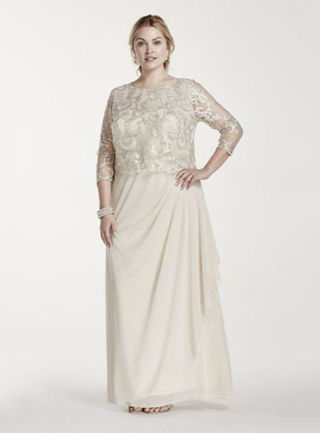 Plus Size Mother Bride Dresses Champagne