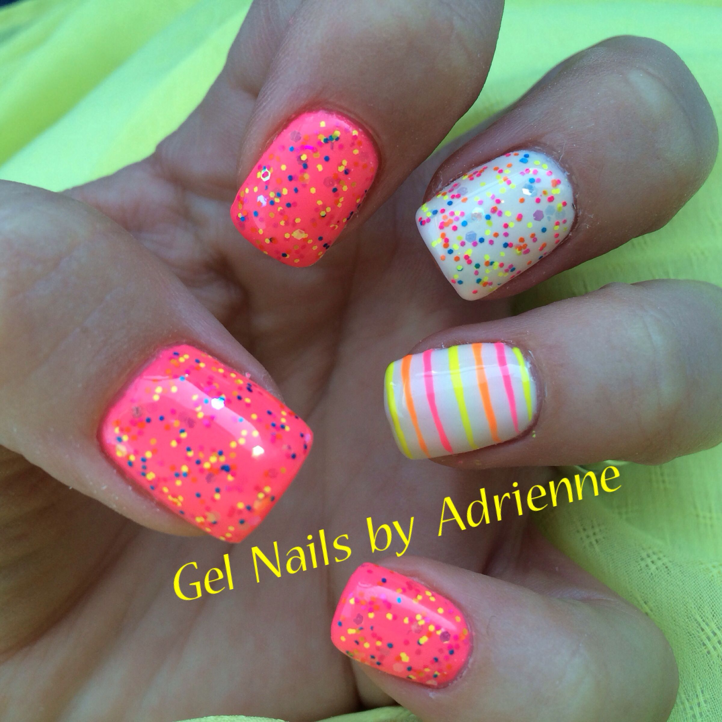 Light Elegance. Neon Paint. Confetti glitter gel | nails ...