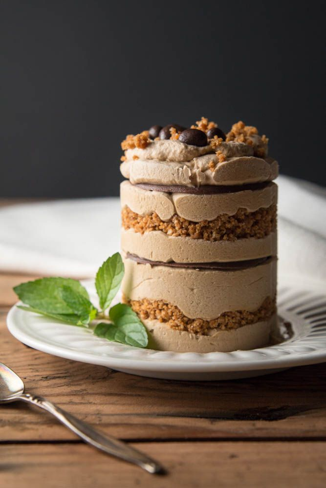 Espresso marscapone mousse with nutella biscoff crumble.