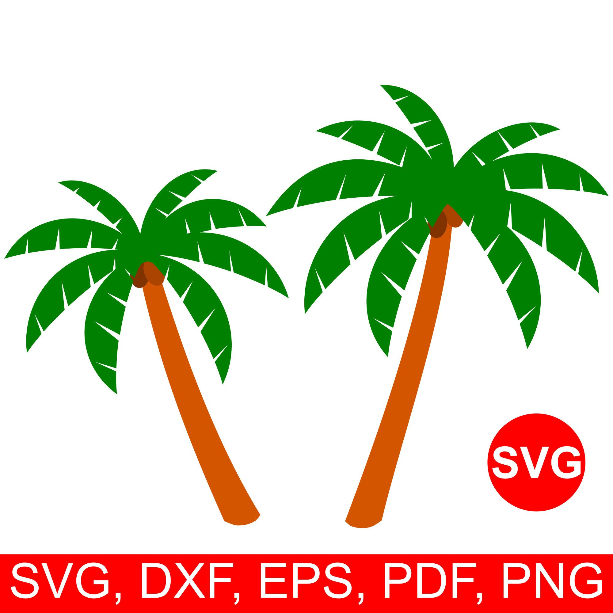 Palm tree SVG fie for Cricut and Silhouette, summer