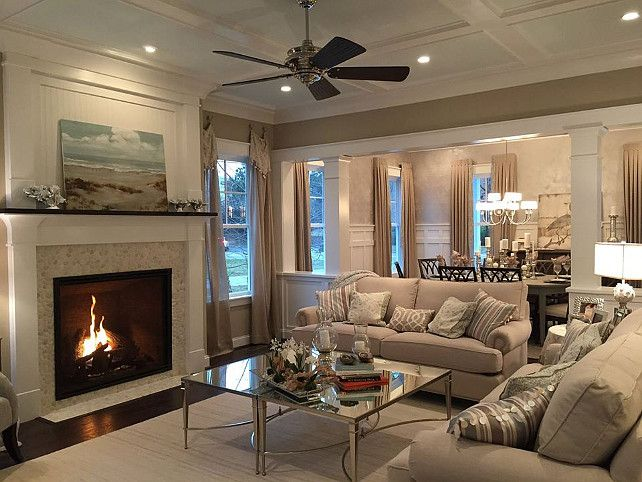 Modern Farmhouse Fireplace Decor With Tv