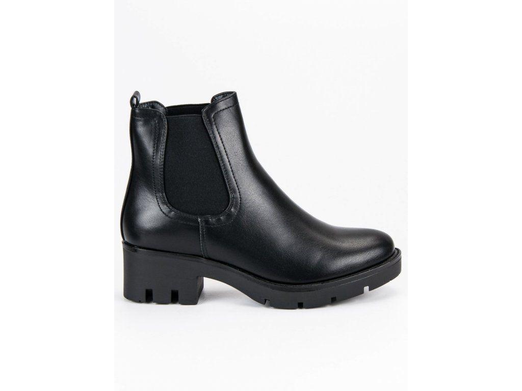 eaba8f22c82ee Pohodlné dámske jesenné topánky čierne | Členkové topánky - NAJ.SK ...