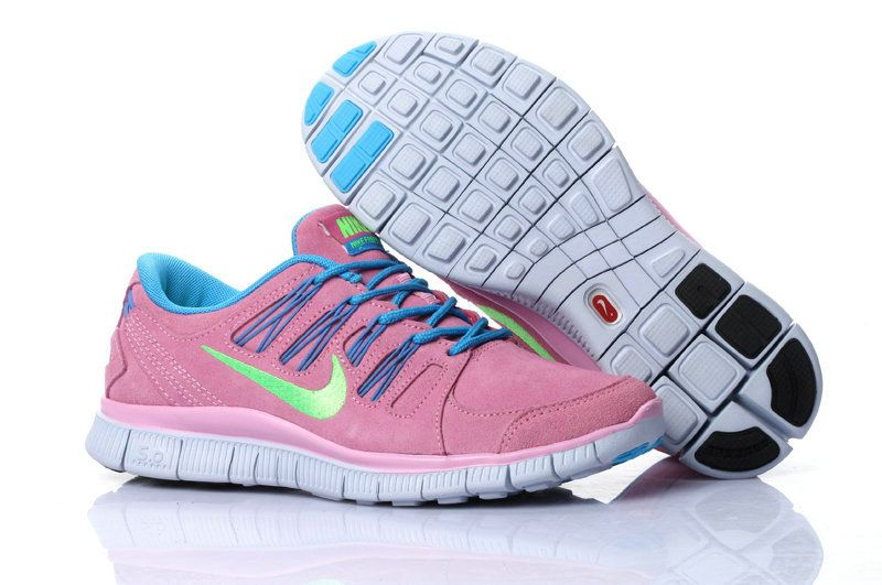 Nike Free 50 V2 Suede Womens Pink Blue Lovely pink products cheap nike