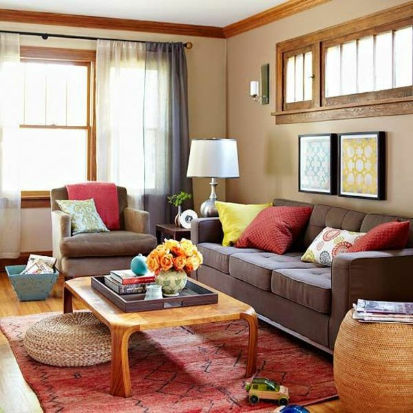 Brown Living Room Color Matching Ideas
