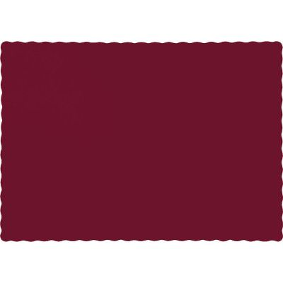 Touch of Color Burgundy Dark Red Purple Solid Color 4-Ply Place Mats 863122B