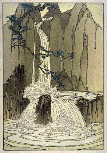 Diamond Mountains  by Bertha Lum, 1936