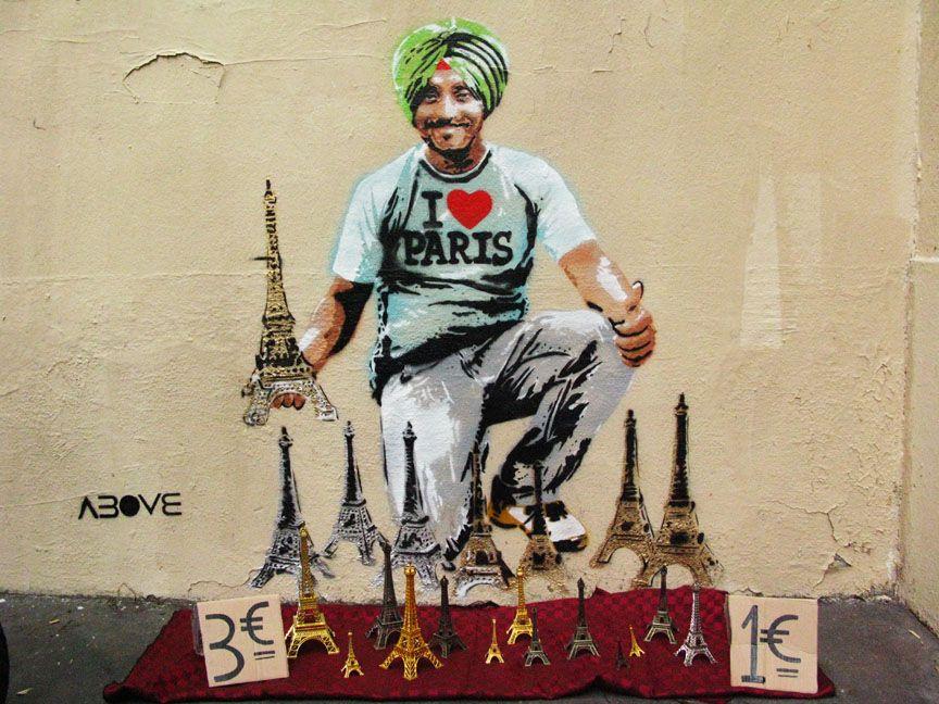 Artist Above Tour Eiffel Eiffel Street Art