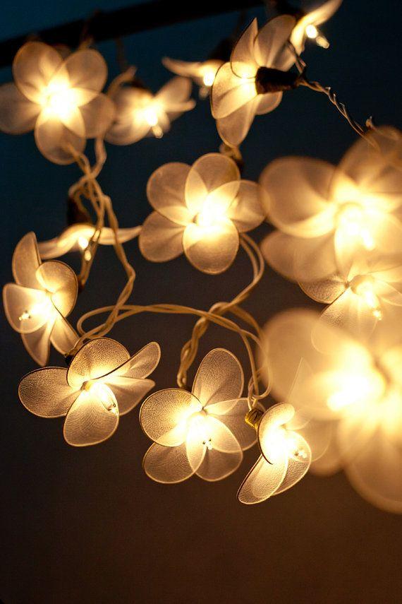 Flower String Lights Floral Lights Fairy Lights Bedroom Hanging - Flower string lights for bedroom