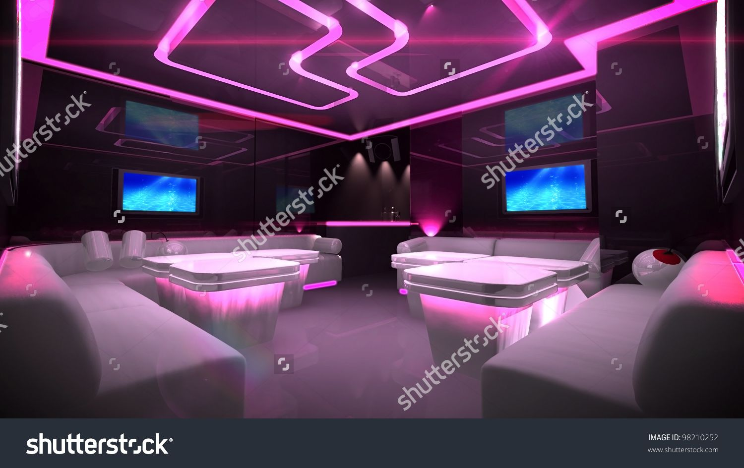 stock-photo-the-nightclub-interior-design-with-the-cyber-style ...