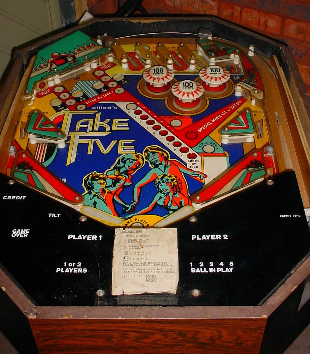 Allied leisures take five pinball cocktail table these never allied leisures take five pinball cocktail table these never took off in the geotapseo Image collections