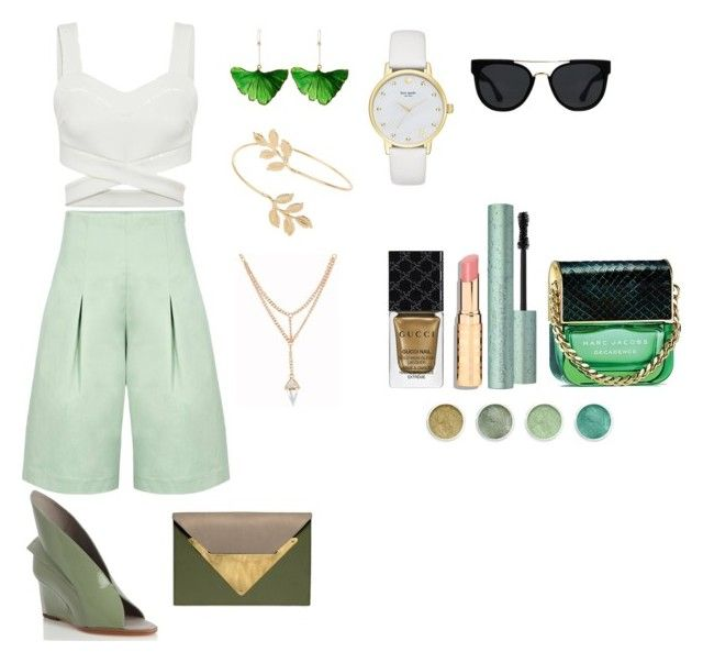 """GGW"" by hillaryranjbar ❤ liked on Polyvore featuring Paper London, Abcense, Dareen Hakim, Miss Selfridge, Kate Spade, Aurélie Bidermann, Gucci, Terre Mère, Marc Jacobs and Quay"