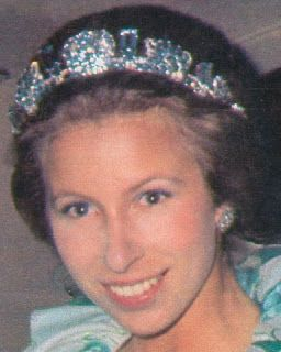 Tiara Mania: Aquamarine Pine Flower Tiara worn by Princess Anne of the United Kingdom, The Princess Royal