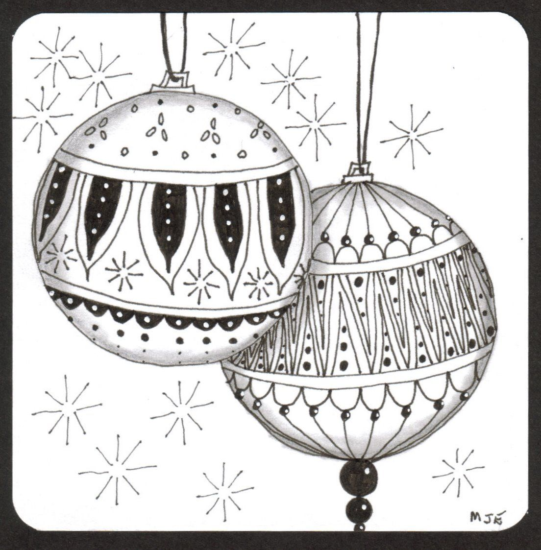 thehappytangler   christmas card design, christmas doodles