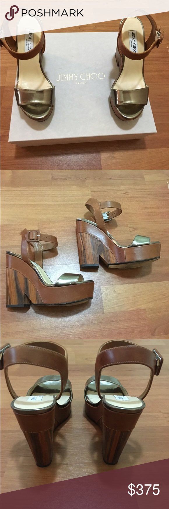 Wedges Sandals Like new auth. Sandals. Only worn three times. Jimmy Choo Shoes Wedges