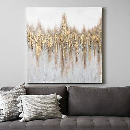 Kirkland's -  Gold and Bronze Abstract Canvas Art Print | Kirklands  - #AbstractPaintings #ArtHistory #kirkland #Kirklands #WatercolorPainting