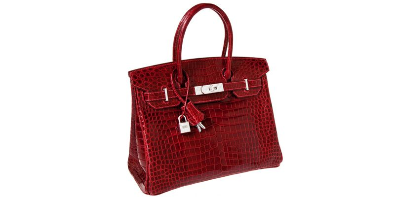 bc334fd74d Hermes Exceptional Collection Shiny Rouge H Porosus Crocodile 30cm Birkin  Bag -  204
