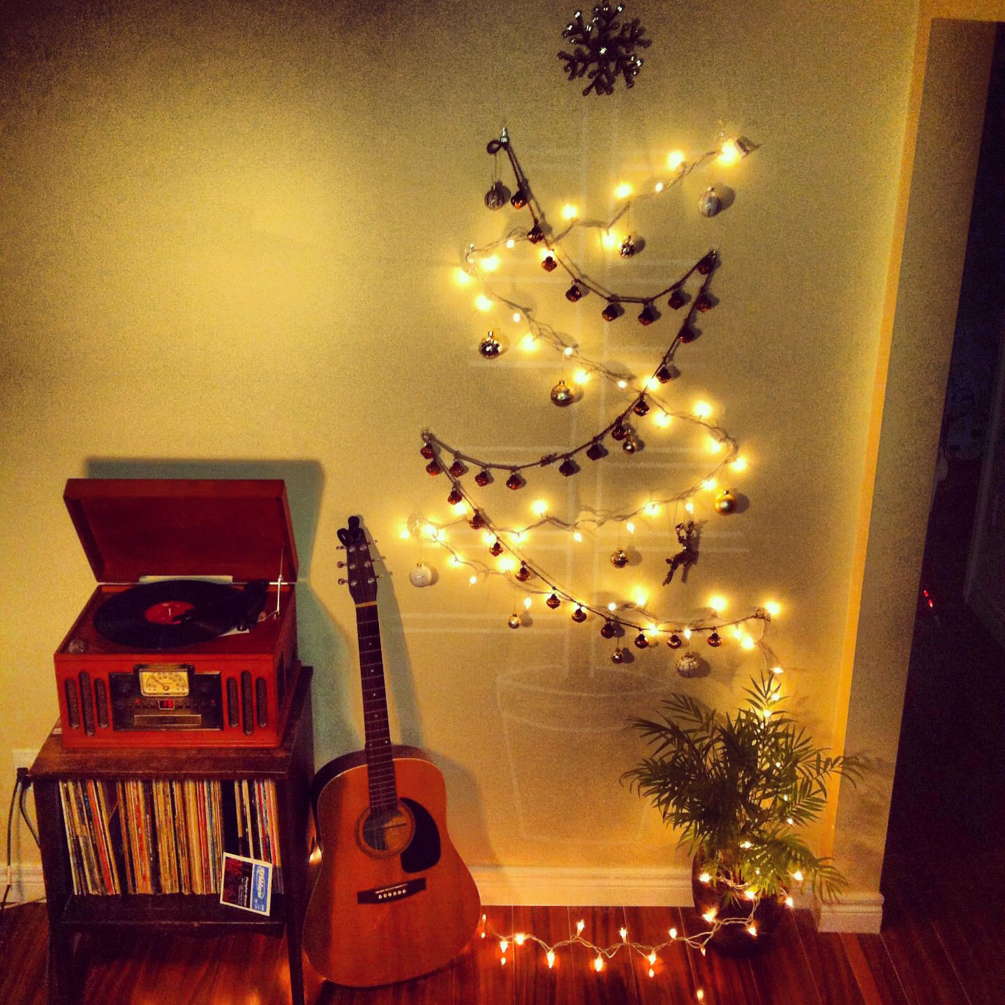 My Christmas tree. #smallspaces #holidaydecor #apartmentliving