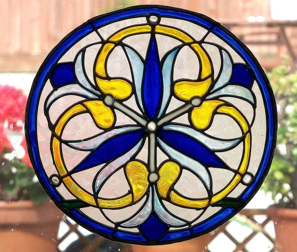 Victorian Window Cling Stained Glass Effect Decoration Decal Sun