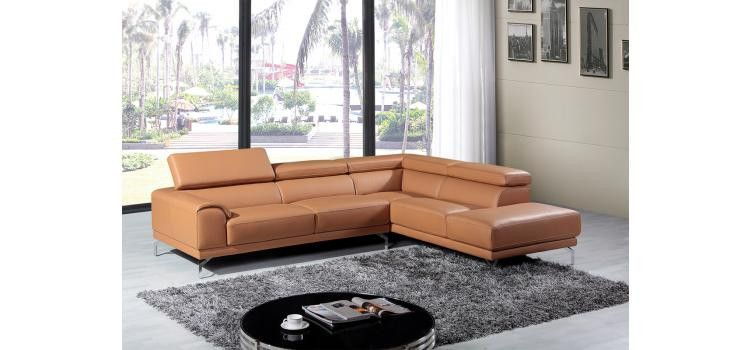 Sectional Sofa Divani Casa Collection Modern Leather Sectional Sofas Contemporary Sectional Sofa Leather Sectional Sofa