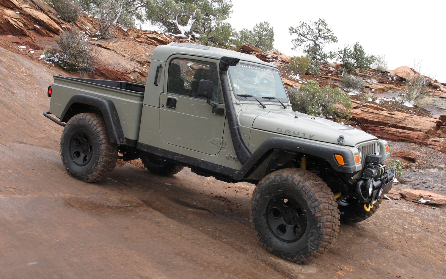 Jeep Wrangler Truck Conversion By Aev Called The Brute Badass Jeep Brute Jeep Suv Willys Jeep