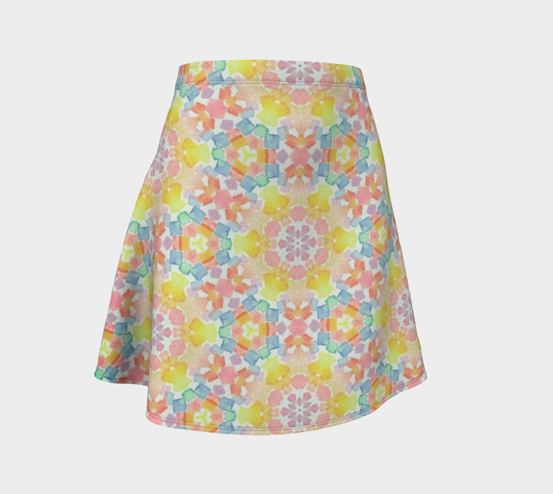 "Flare Skirt ""Tiles"" by Juca's Store"