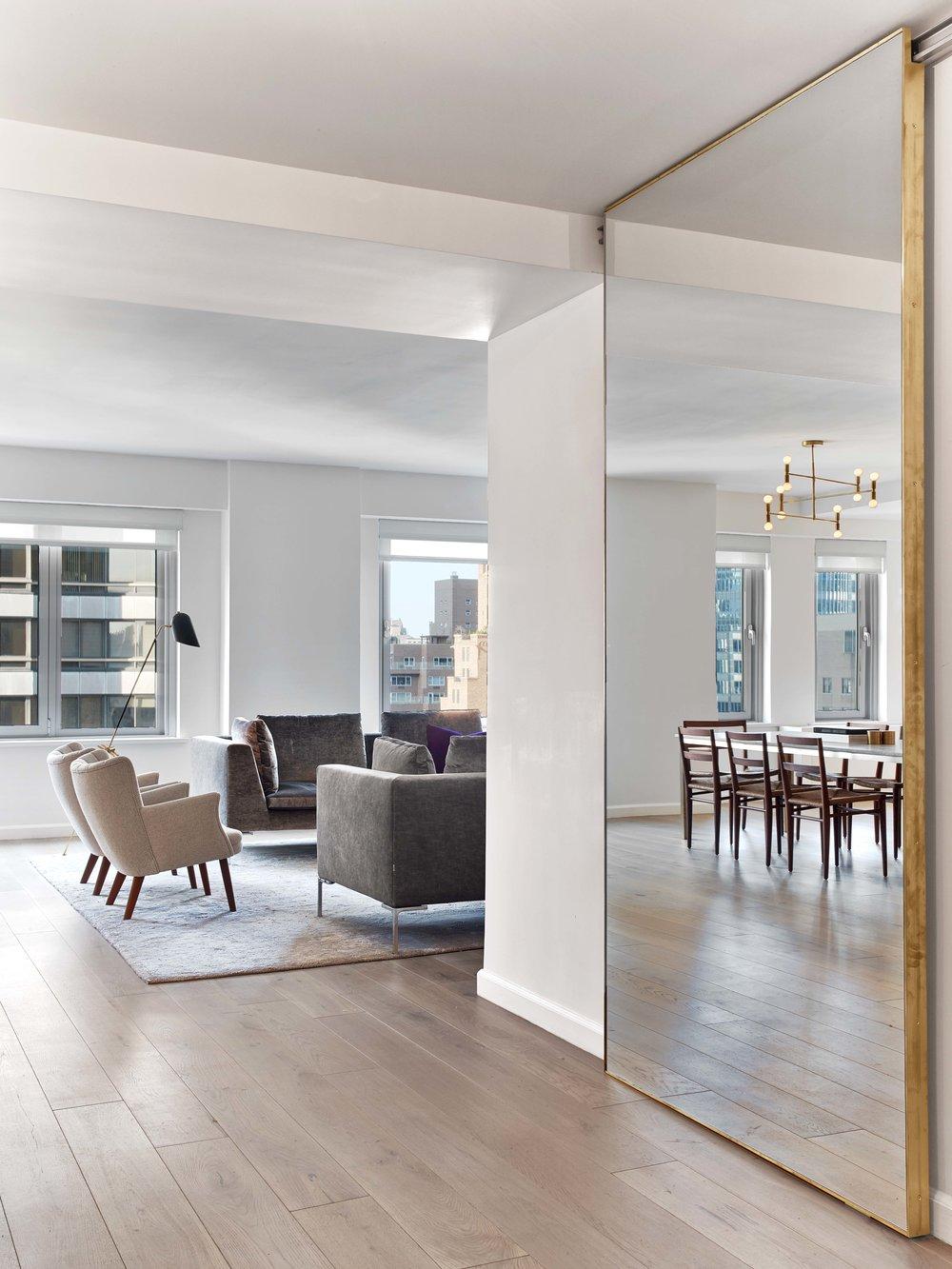 Mirror Installation 200 E 62nd Street Condominiums Messana O Rorke Condominium Interior Design Condominium Interior Condo Interior Design
