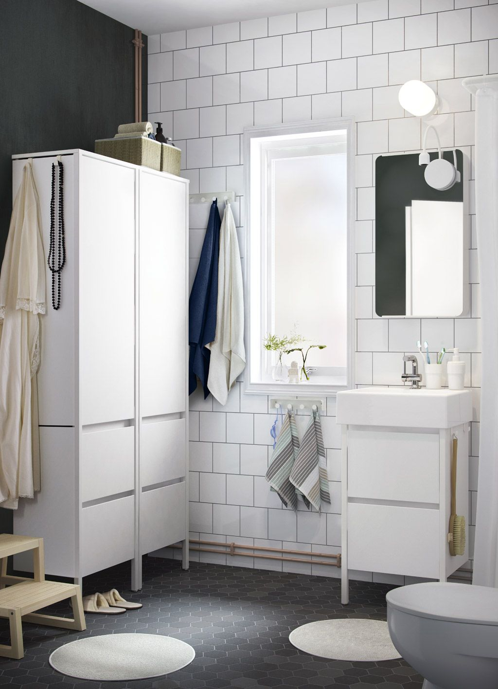 Ikea YDDINGEN sink unit and high cabinets | IKEA inspiratie ...