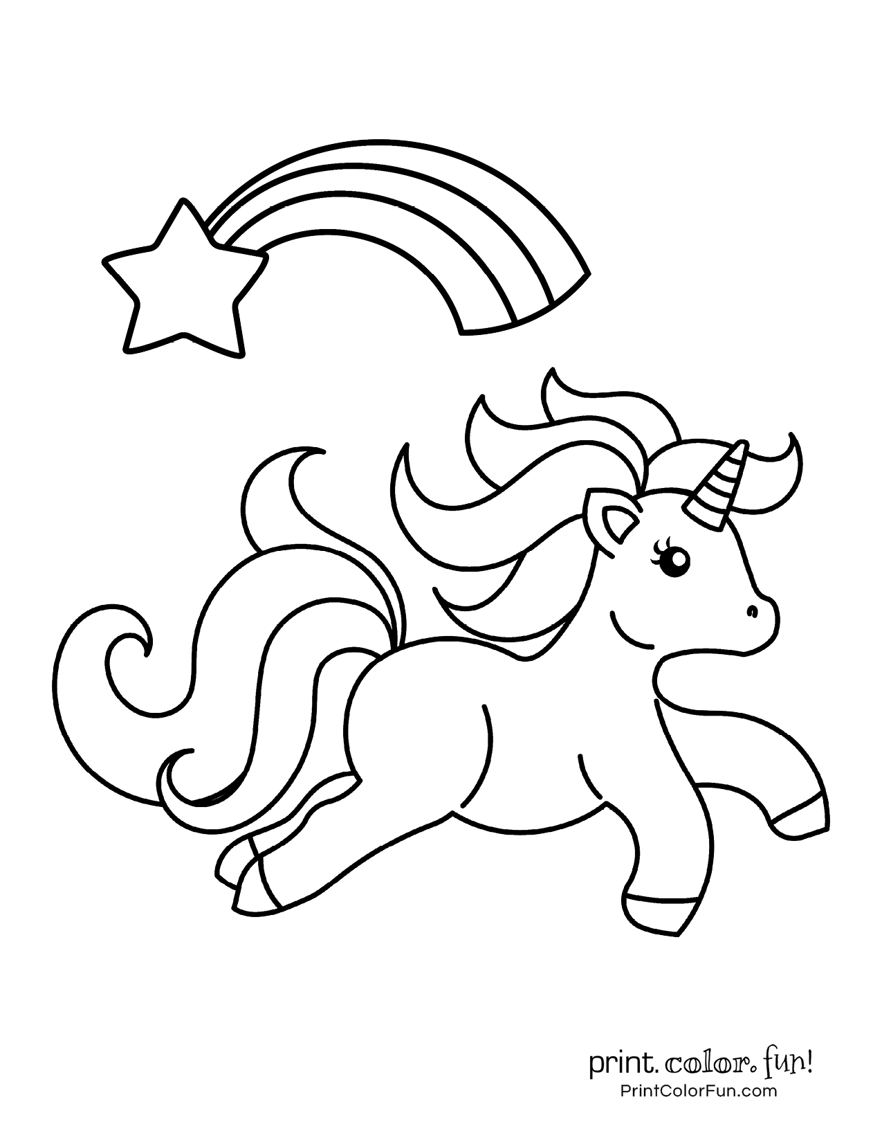 Unicorn Coloring Pages Free6 Unicorn Coloring Pages My Little Unicorn Unicorn Pictures