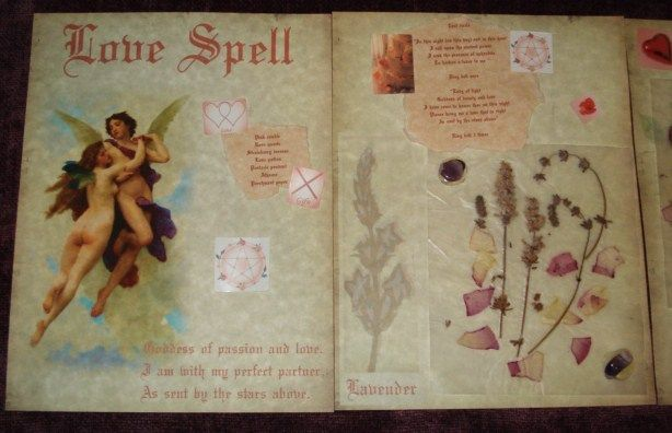 Love Spell Pages Book of Shadows inspiration and ideas