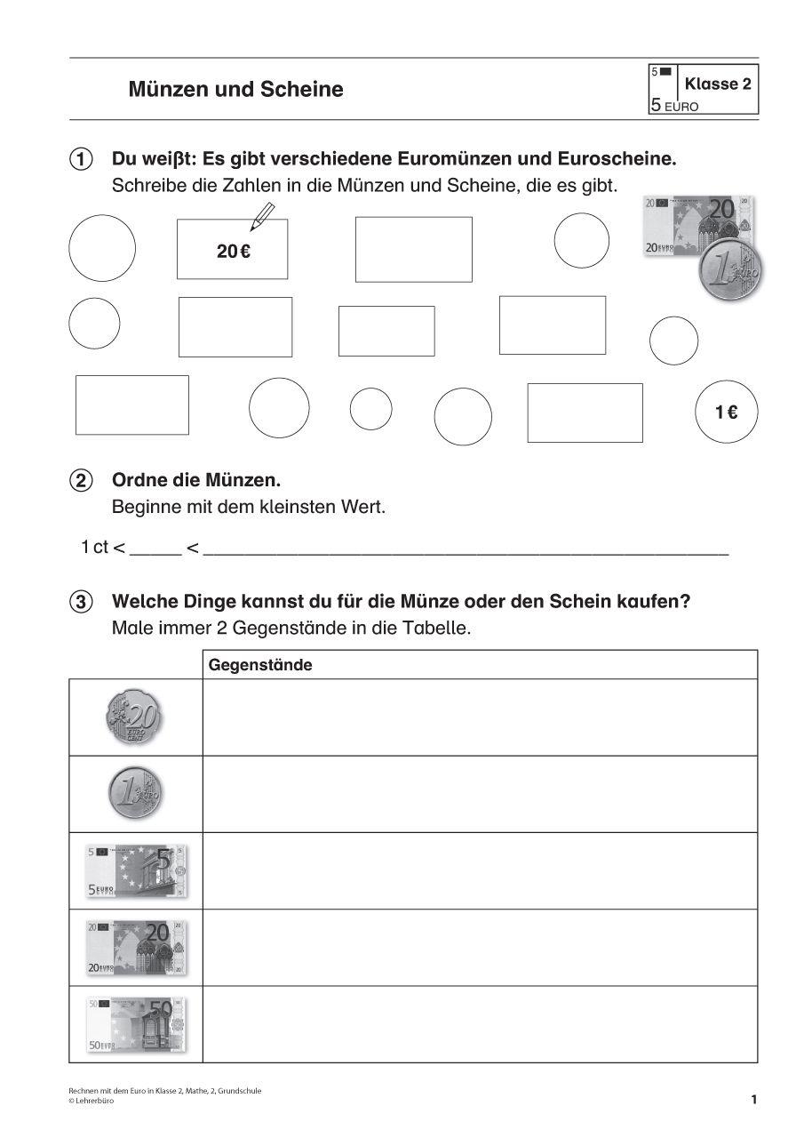 Unterrichtsmaterialien · Haupt- & Realschule · Lehrerbüro | Geld ...