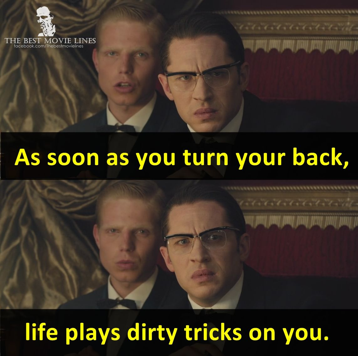 Tom Hardy In Legend 2015 Tom Hardy Quotes Best Movie Lines Tom Hardy Legend