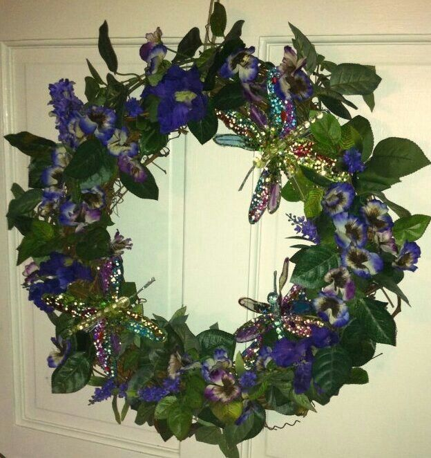Purple Hummingbird Wreath This One Is Mine Projects