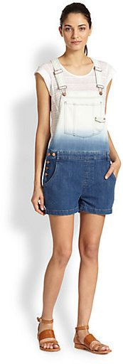 Marc by Marc Jacobs Ombre Denim Short Overalls