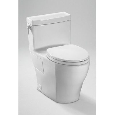 Toto Aimes High Efficiency 1 28 Gpf Elongated 1 Piece Toilet With Sanagloss Reviews Wayfair Toto Toilet Toilet New Toilet